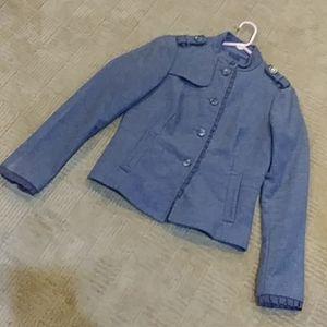 GAP military style jacket, grey, size 6